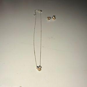 Minnie Mouse Topaz Jewelry Set